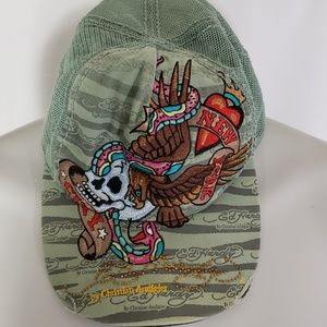 Ed Hardy Mesh Green Unisex Hat One Size Snap